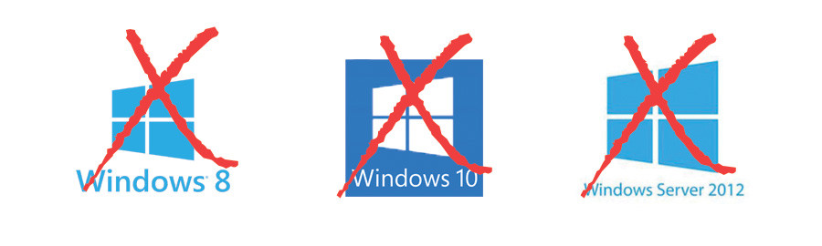 List Windows Operating Systems not supported by LogMeInBackup