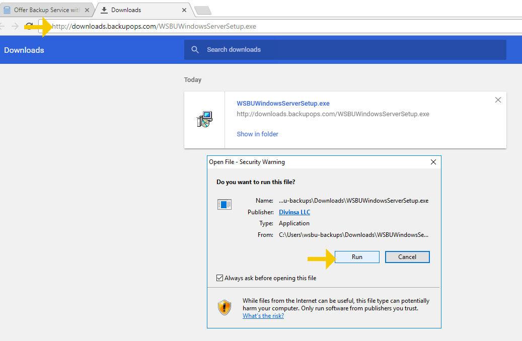 download-the-wholesalebackup-server-installer