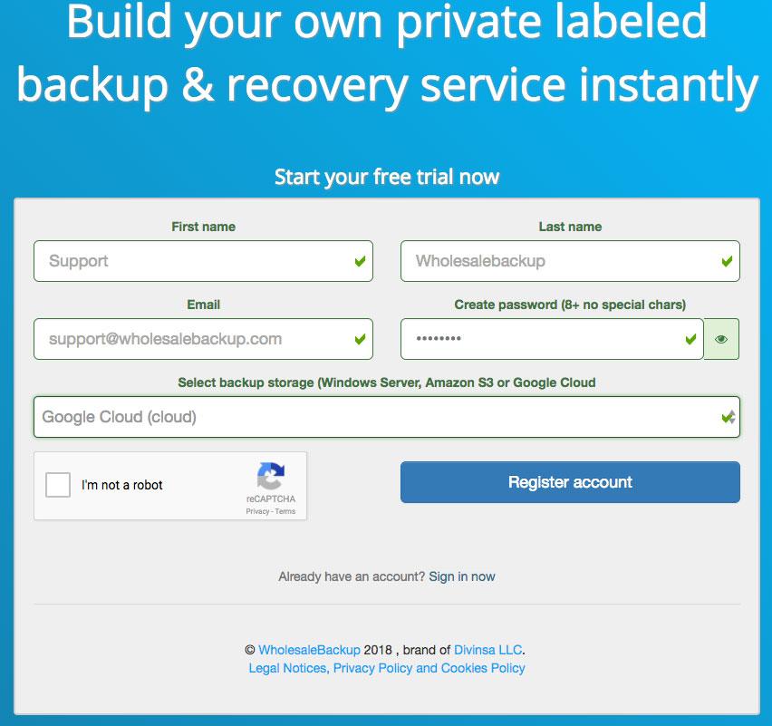 registration-form-google-backup-platform