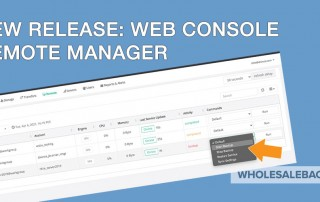 remote management for web console